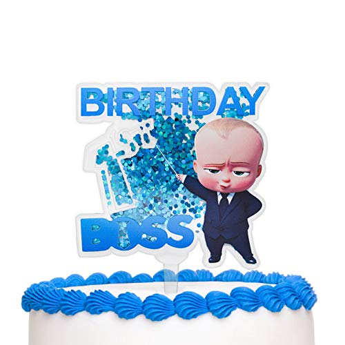Happy 1st Birthday Boss Cake Topper, Boss Baby Birthday Party Decor