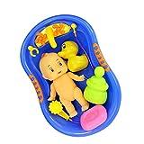Gazechimp Kinder Badewannenspielzeug Set aus Kunststoff Puppen und Badewanne Set für Baby Badespaß...