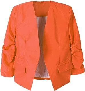 XQXCL Women Outerwear, Fashion Office Ladies Suit Coat OL Style Nine Quarter Puff Sleeve Blazer Elegant Slim Jacket