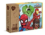 Clementoni Play For Future-Marvel Super Hero-24 pezzi-materiali 100% riciclati-Made in Italy, puzzle bambini 3 anni+, 20262