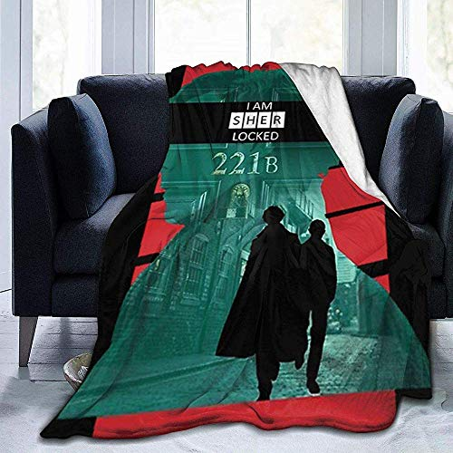 Not Applicable Fleece Blanket Sherlock Warm Especial Manta De Franela Sofá Throw Blanket Durable Fleece Blanket Luxury 127cmX153cm