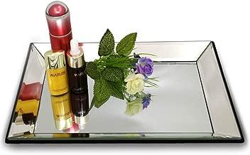 meetart Rectangle 21x30 cm Vanity Organizer Decorative Mirror Tray Vanity Tray Markup Jewelry Tray Silver Tray for Home Decor
