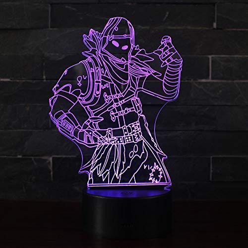 3D Illusion Nuit Lumière Win-Y LED Bureau Table Lampe 7 Couleur Tactile Lampe Maison Chambre Bureau Décor pour Enfants D'anniversaire De Noël Cadeau (Predator 1)