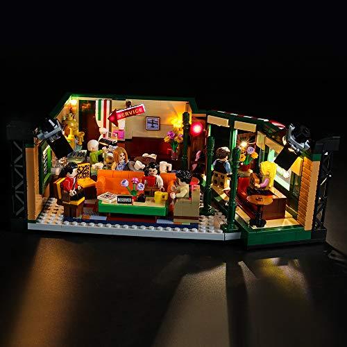BRIKSMAX Kit di Illuminazione a LED per Lego Idee Central Perk,Compatibile con Il Modello Lego 21319 Mattoncini da Costruzioni - Non Include Il Set Lego.