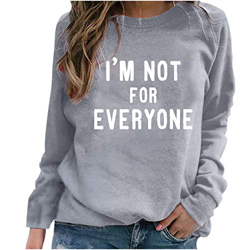 Women's Blouse, Fashion Women Long Sleeve Letter Print Brief Sweatshirt Casual Top Pullover, Clothing for...