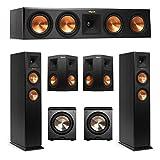 Klipsch 5.2 System with 2 RP-250F Tower Speakers, 1 RP-450C Center Speaker, 2 Klipsch RP-250S Surround Speaker, 2 BIC/Acoustech Platinum Series PL-200 Subwoofer + AudioQuest Bundle