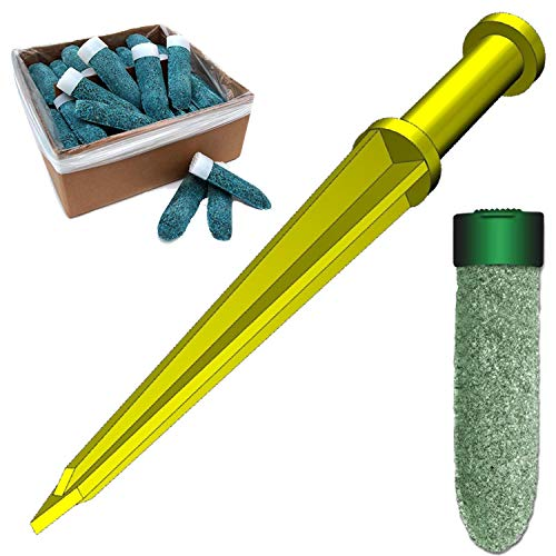 Keyfit Tools Tree Fertilizer Spike Land Staker 2.0 Get Your Fertilizer Spikes 1 Foot Deeper for Deep Root Tree & Shrub Fertilizing ~Or use Your own granular Fertilizer Does NOT Come with fert Spikes