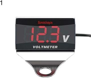 Voltm/ètre de moto modifi/é LED Affichage num/érique Tension Volt Jauge Panel Meter 12V rouge EBTOOLS Voltm/ètre de moto /étanche