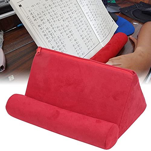 Soporte de Tableta de Almohada, Tela de Gamuza Diseño Multifuncional Soporte de Tableta de teléfono Suave para apoyabrazos para Alfombra para Cama