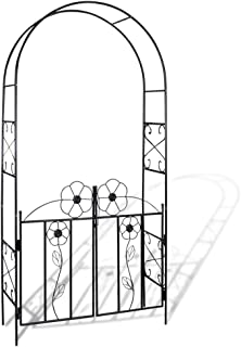 vidaXL Garden Arch Door for Climbing Plants Outdoor Pergola Archway Decor