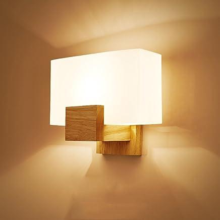 0e9dd23e Pumpink Victoria lámpara de Pared de Madera Maciza Aplique de Pared Moderna  Simple Norte de Europa