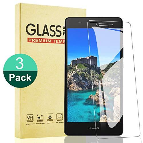 RIIMUHIR Protector de Pantalla para Huawei P9 Lite,Cristal Templado Vidrio Templado con Anti-Huellas,Alta Sensibilidad,Anti-Aceite Huawei P9 Lite Cristal,3 Unidades