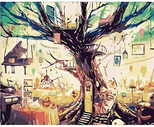 Mrlwy Malen nach Zahlen Sonnenuntergang Boot DIY Malerei nach Zahlen Meer Malerei und Kalligraphie Einzigartiges Geschenk für Wohnzimmer Landschaft Home Decor