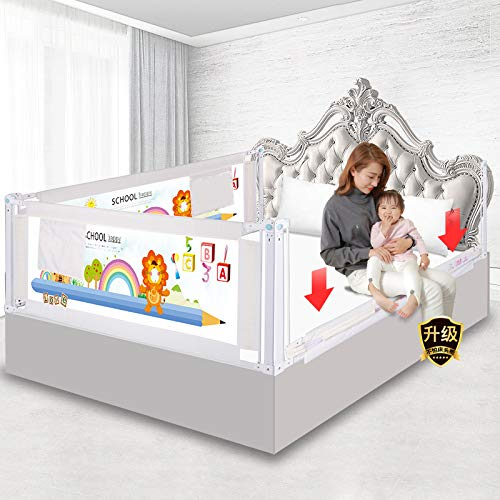Great Features Of 3 Set Queen/King Size Baby Bed Fence, Bed Rail Crib Rails, Security Fencing, Child...