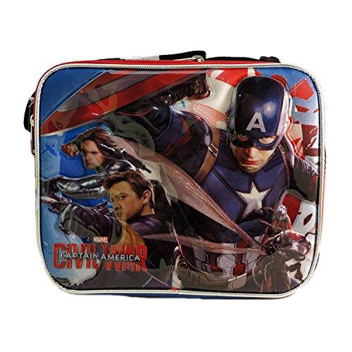 Ruz Captain America Civil War Lunch Bag with Adjustable Shoulder Strap