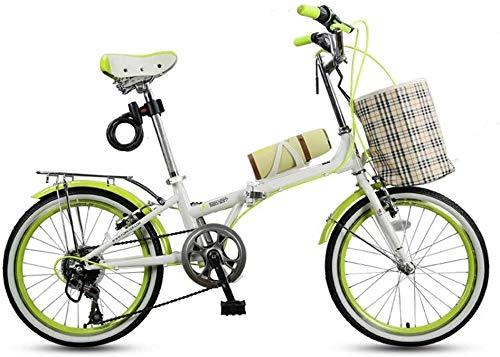 DX Renn - Bicicleta de montaña juvenil plegable, velocidad para hombres y mujeres, estudiantes, deporte y ocio, 7 velocidades, 20 pulgadas