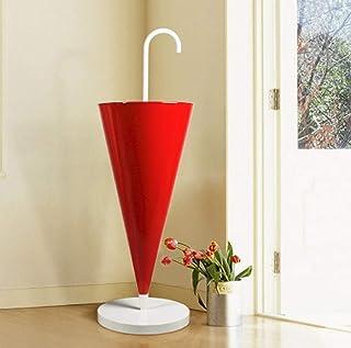 Color : Gold Portaombrelli WXYZ Terra in Ferro Battuto Umbrella Stand con Rimovibile Leccarda 60x25x20cm Nero Bianco Rosa Rosso Giallo Grande capacit/à Umbrella Benna for La Casa Hotel