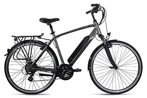 Adore Alu E-Trekking Bike 28'' Ancona Grau 250W Li-Ion 36V/14 Ah/504Wh 24 Gänge