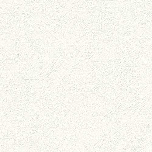 Vliestapete Mustertapete Tapeten mit Muster 337511 33751-1 A.S. Création Meisterputz 15 m | Weiß | Muster (21 x 29,7 cm)
