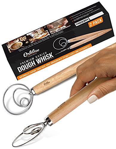 Orblue Professional-Grade Danish Dough Whisk 2-pack