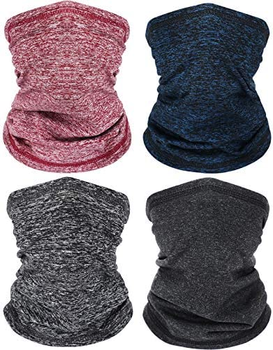 4 Pieces Winter Thicken Neck Warmer Gaiter Fleece Face Covering Ski Winter Balaclava Thermal product image