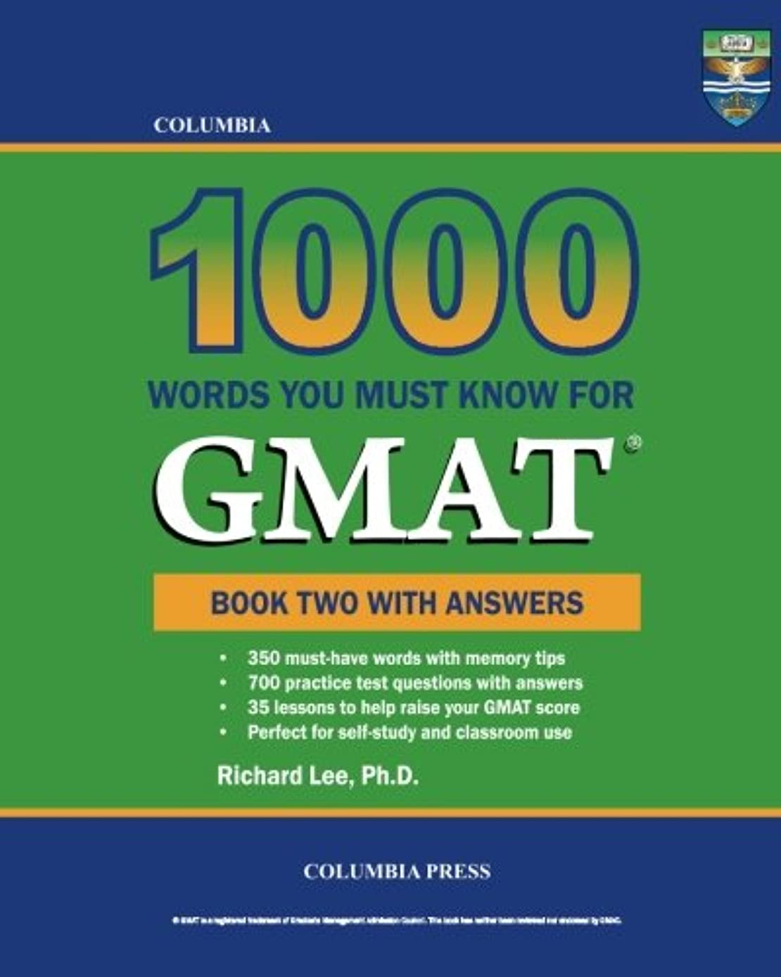 かけるピジン進むColumbia 1000 Words You Must Know for GMAT: Book Two with Answers