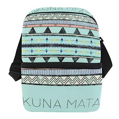 Hakuna Matata Vintage Outdoor Lunch Bag Picknick koelbox ijszak draagbare schouderriem