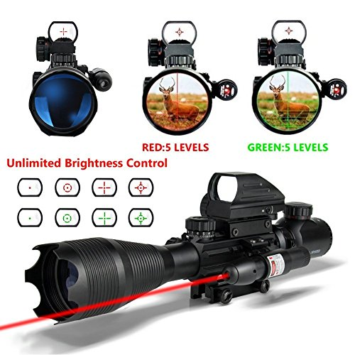 HMELOVE Tactical Rifle Scope (3 IN 1) 4-16x50EG Dual Illuminated with...