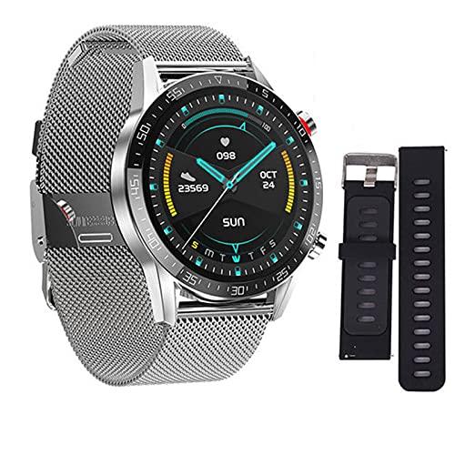 VBF Reloj Inteligente, Nuevo Microondas L13, ECG Ritmo Cardíaco Bluetooth Llamada A La Presión Arterial Reloj Deportivo IP68 A Prueba De Agua L16 L15 Reloj Inteligente para Android iOS,E
