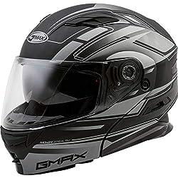commercial Adult GMAX MD-01 Modular Stealth Bike Helmet – Matte Black / Silver / 2X Large helmet bt inserts