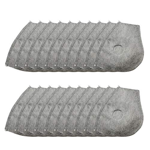 20 x Filter Staubmaske Atemmaske Mundschutz Mundmaske Staub Schutz Masken Ersatzfiltern Anti Pollen Allergie Motorrad Radsport Outdoor aktivitäten mit 8 x Ersatz Filter Atemventil