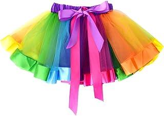 Cute girl's tutu rainbow short skirt for girls - 4-8 Years