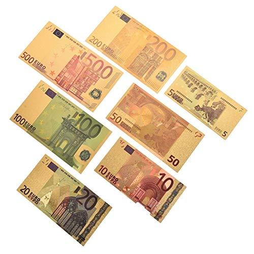 LICHONGUI Gold Antique Plated 7pcs Notas conmemorativas Bill