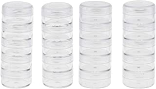 40 Storage Stackable Containers Clear Plastic Jars Cosmetic Samples Container Box for Beads, Crafts, Make Up, Eye Shadow, Nails, Powder, Jewelry