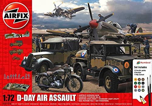 Airfix A50157A 1/76 75 Jahre D-Day, Geschenk-Set, Luftangriff Modellbausatz, Multi, 1: 76 Scale