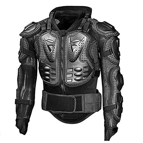 LZJDS Costura estéreo 3D Armadura Neutral para Adultos Traje Anti caída Traje de Ciclismo Motocicleta de cáscara Dura con Protector de Cuello,Negro,XL