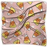 Pañuelo de pizza, diseño de oveja, de poliéster, cuadrado, mulipurposa, de seda, impresión delicada