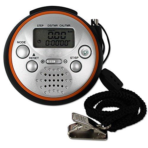 TW24 Schrittzähler mit extralauten Panikalarm - Pedometer - Stoppuhr - Streckenanzeige - Kalorienanzeige