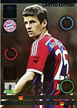 2014/2015 Panini Adrenalyn Champions League EXCLUSIVE Thomas Muller Limited Edition MINT! Rare Card Imported from Europe! Shipped in Ultra Pro Snap Card Holder to Protect it!