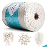 tEEZErshop Macrame Corda 3mm * 300m,100% Cotone Macramè Filo, Macrame Natural Cotton 4 St...