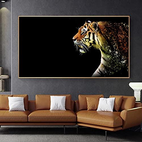cuadro tigre de la marca HXLZGFV