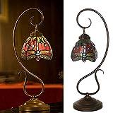Lámpara De Mesa Estilo Tiffany Resina Cristal Libélula Modelado Regalo De Vacaciones Natural W25 * H57CM Yang1mn