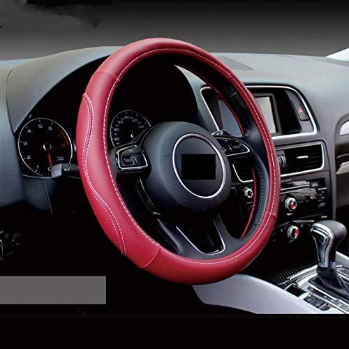 XLTWKK Cubierta de Volante de diseño de Coche de Cuero, para Fiat 500 Abarth, para Mercedes W176 W2