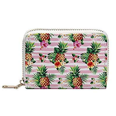 Amazon - 65% Off on Printed Small Zip Around Wallet Women's RFID Credit Card Holder Mini Coin