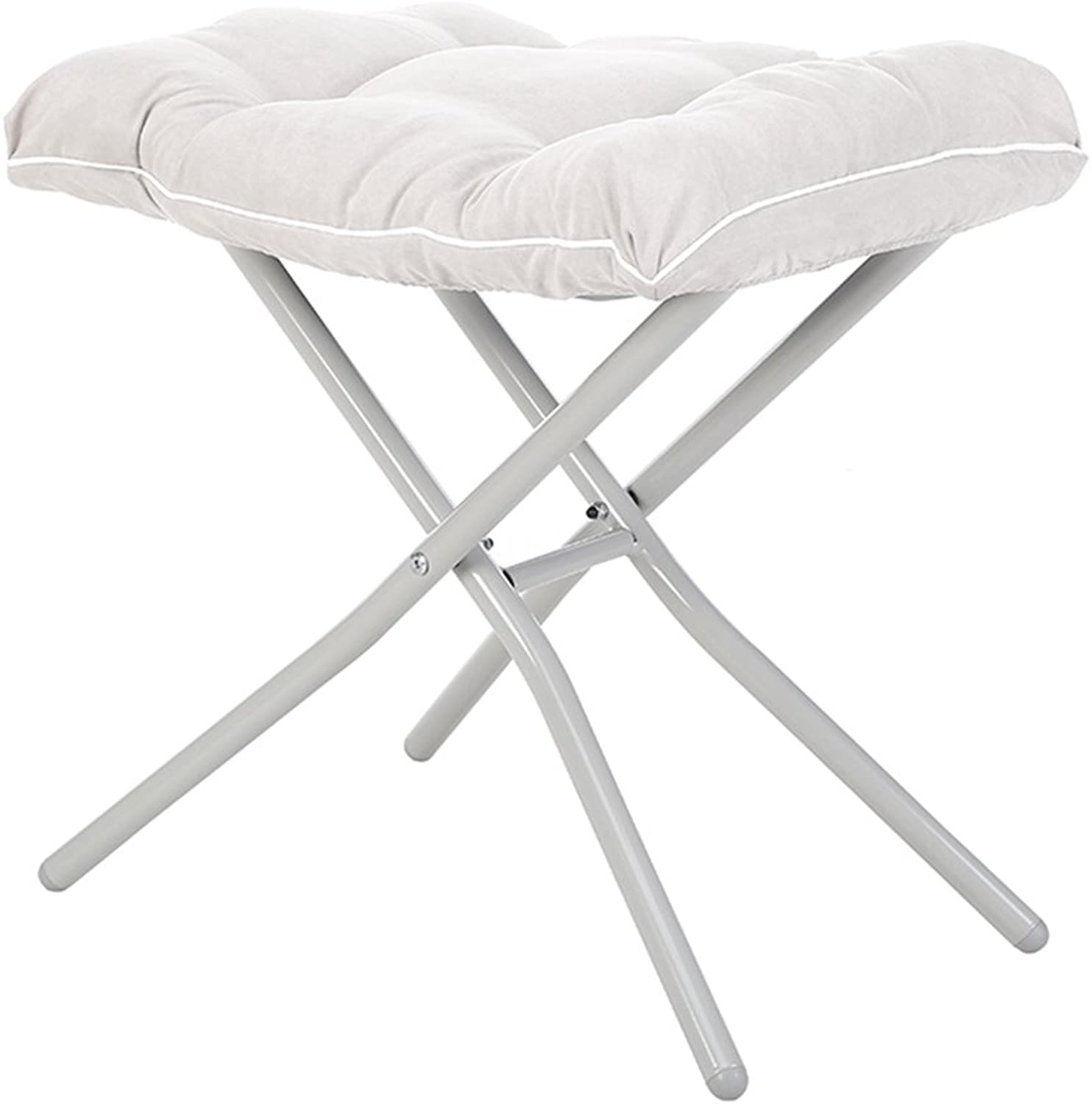 Chairs Folding Chair Stool Folding Stool Home Fishing Stool Small Bench shoes Bench Portable Stool Sofa Bench (color   White, Size   38  46  50cm)