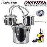 DCHOUSE 12L 3 litri 3 pentole Home distillatore Moonshine alcool bollitore rame Home Brewing kit con Thumper Keg in acciaio inox