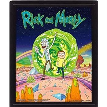 Rick & Morty - Poster 3D Portal: Amazon.es: Hogar