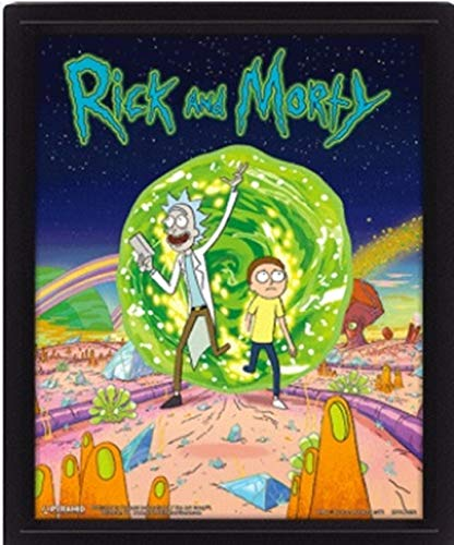 Rick & Morty - Poster 3D Portal