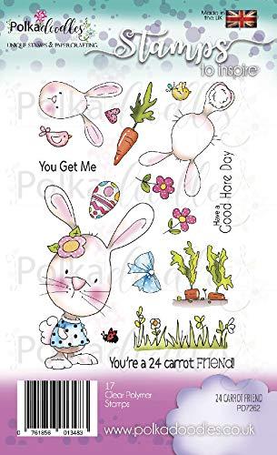 Polka Doodles Sello transparente multicolor 18x 11cm