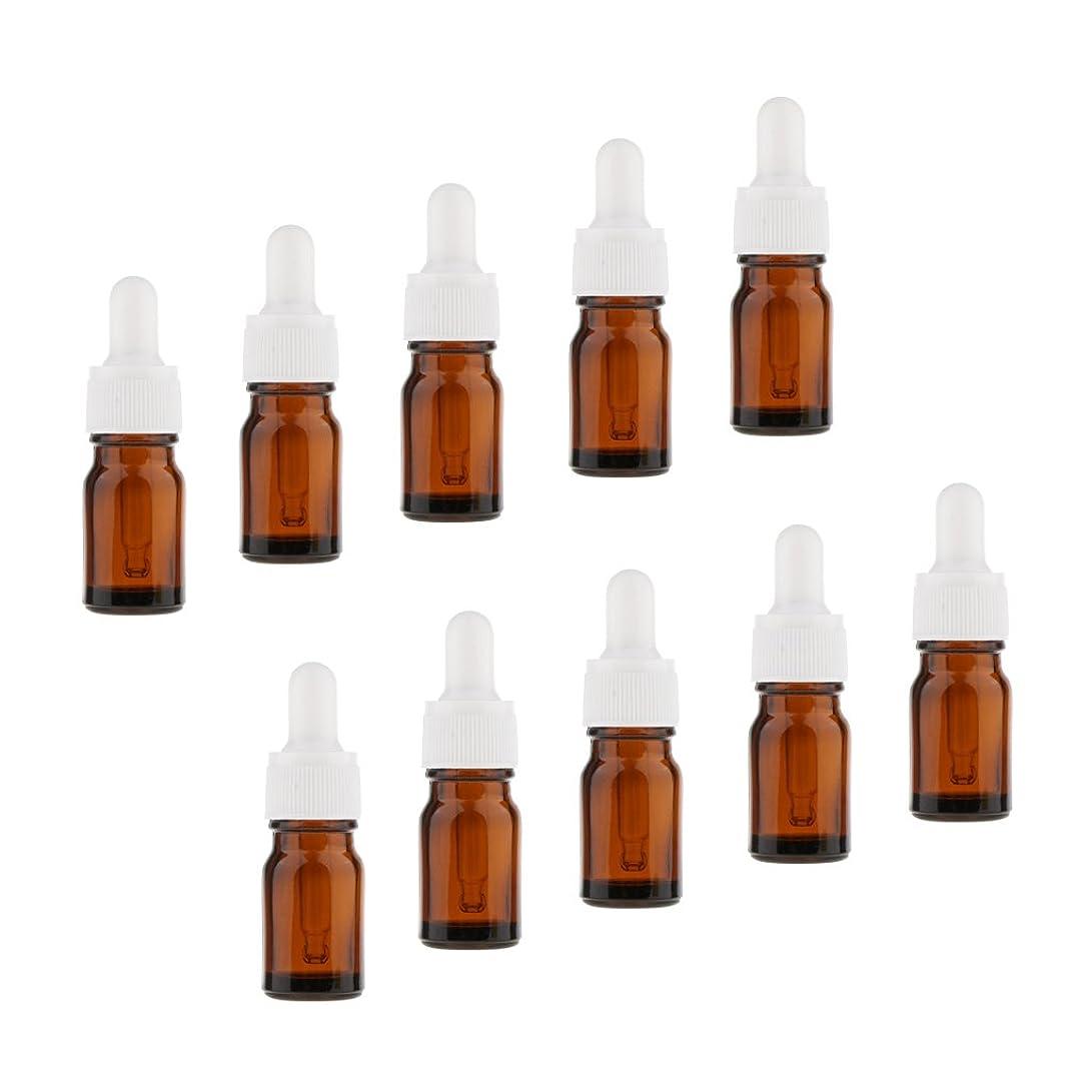ビスケットコンデンサー胃Kesoto 10個 オイルボトル 空ボトル ガラス コスメ用 詰替え 容器 アロマセラピーボトル ドロッパー バイアル チューブ 5サイズ選べる - 10ml